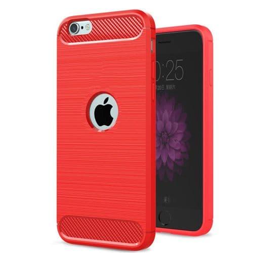 Ip333_Coque De Protection Pour Mobile Iphone SE 2020_TPU Fibre Carbone Finition