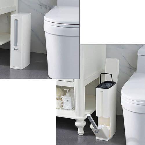 Kit Set Poubelle Avec Brosse De Toilettes Slim Modern Design