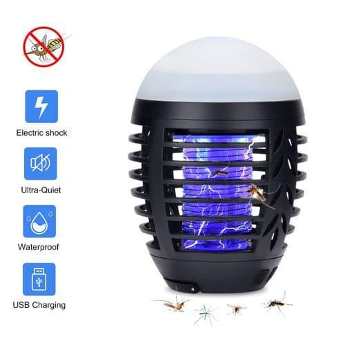 Lampe Anti-Moustique Anti-Insectes Lanterne Étanche Charge Via Usb