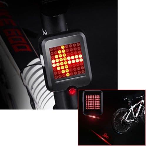 Lampe Bicyclette Clignotant Automatique Feu Arrière Sécurité Vélo Charge Usb