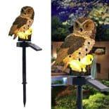 Lampe Chouette Lumière Avec Panneau Solaire Étanche Ip65 Extérieur Jardin