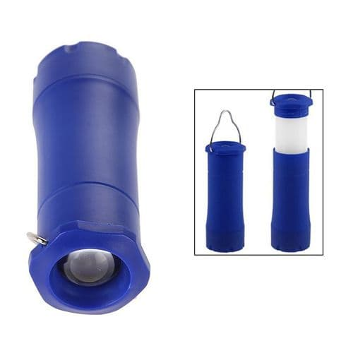 Lampe De Poche 3W Lanterne Rétractable Torche Éclairage Portable Bleu