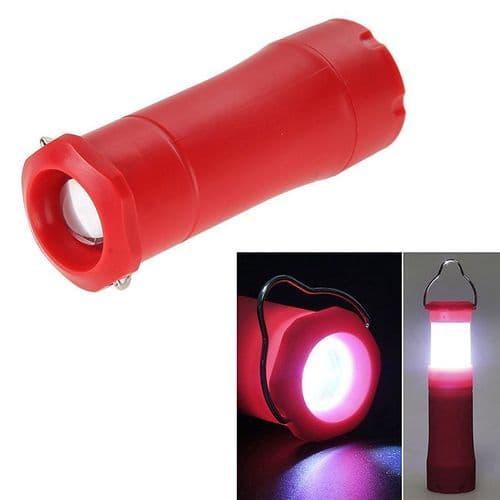 Lampe De Poche 3W Lanterne Rétractable Torche Éclairage Portable Rouge