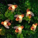 Lampe Lumière Cordon 15Ft  5,8 M 30 Led Solaire Forme Abeille Décoration