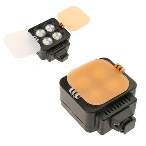 Lampe Photo Vidéo Lumière 4 Led 5500K / 3200K Pour Appareil Dslr Prise Sabot