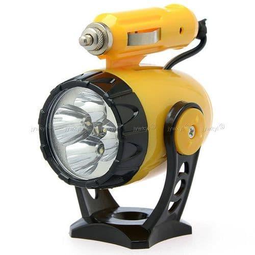 Lampe Torche 5 LED de Voiture avec Prise 12V Allume-cigare Magnétique