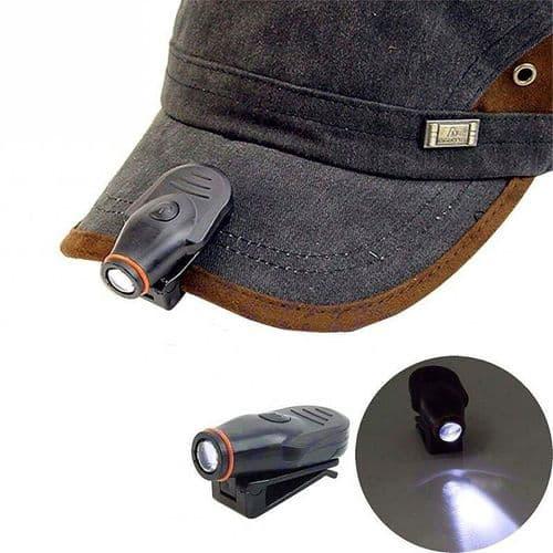 Lampe Torche Lumière LED Pêche Clip-on Casquette Lampe Lumière Mini Torche