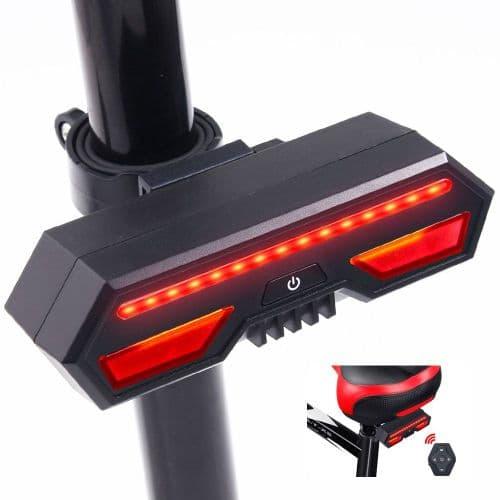 Lampe Vélo Feu Arrière Led Lumière Vélo Télécommande Clignotant Usb Rechargeable