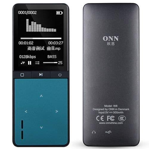 Lecteur MP3 Bluetooth 8 Go Baladeur Audio Podomètre APE FLAC Music W8 BU