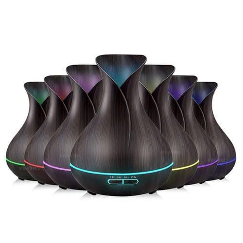 Lumière LED 7 couleur ultrason humidificateur diffuseur huile essentielle 400ml