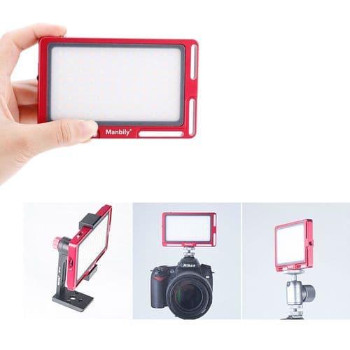 Mfl-03 Vidéo Photo Lampe Lumière Mini Ultra-Mince Portable 4500Mah 96 Led