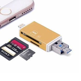 Micro USB USB 8 broches Lightning Lecteur de carte SD micro SD Android iOS PC OTG