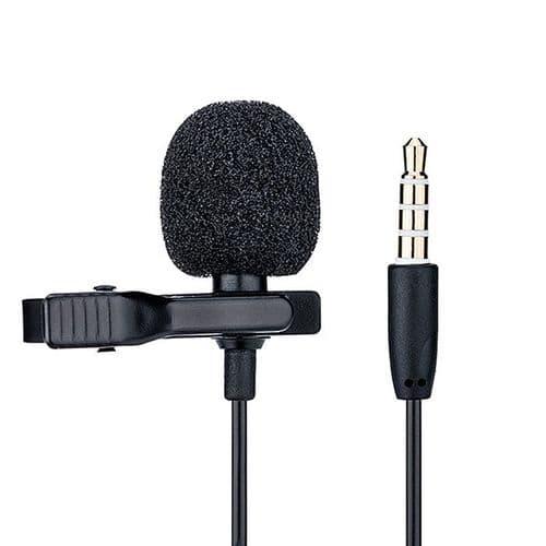 "Microphone Lambda Omnidirectionnel 3,5mm Mini-Jack Adaptateur ¼"""