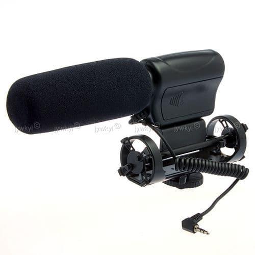 Microphone Micro Stéréo Directionnel pour Appareil Photo Caméscope DV II
