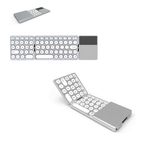 Mini Clavier Pliable Bluetooth Sans Fil Portable Pavé Tactile_Qwerty Anglais