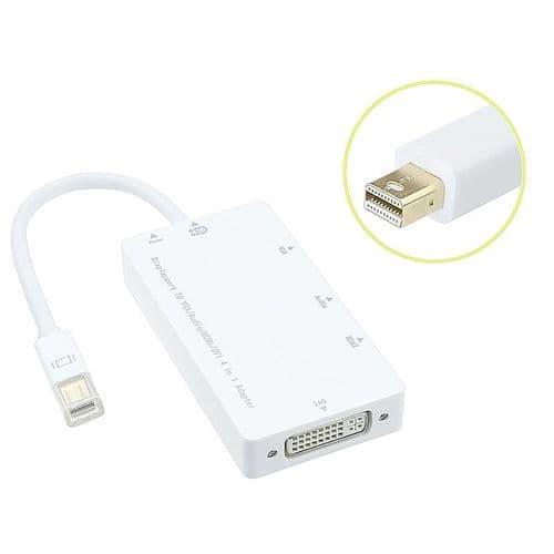 Mini Displayport Thunderbolt à DVI VGA HDMI Audio Adaptateur Câble Convertisseur