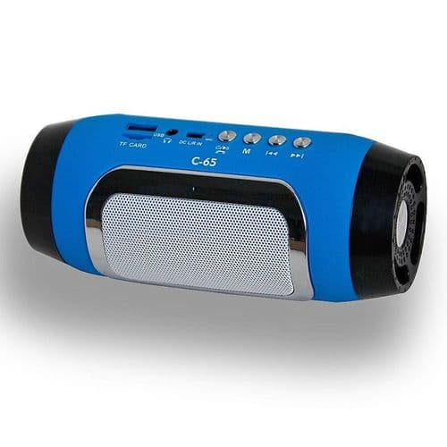 Mini Enceinte Bluetooth Sans-Fil Portable FM Radio Fente Carte Mains libres BU