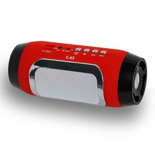 Mini Enceinte Bluetooth Sans-Fil Portable FM Radio Fente Carte Mains libres RD