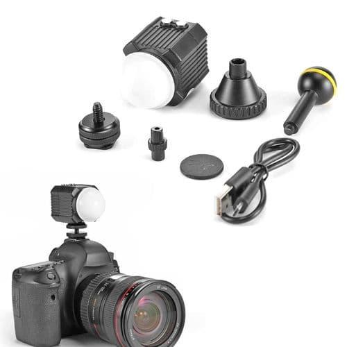 Mini Lampe Vidéo Lumière Photo Led Photographie De Plongée Sous-Marine Ipx8 60M