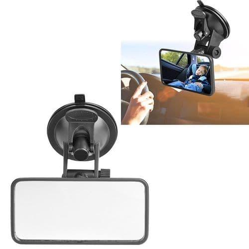 Mini Rétroviseur À Ventouse  À Angle Réglable Pour Intérieur De Voiture Auto