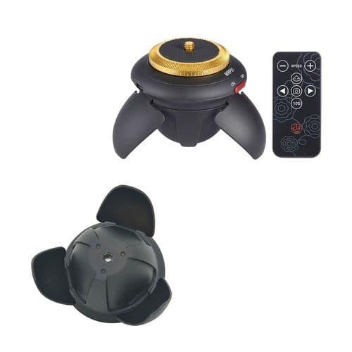 Mini Tête Rotule Panoramique Motorisée Avec Vis Trépied + Clip Pour Smartphone