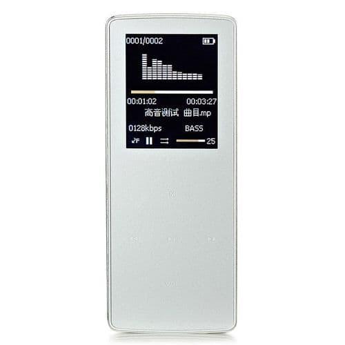 """MP3 Bluetooth Lecteur Audio Sans Perte Musique 8 Go Stockage 1.8"""" Ecran FM BK"""