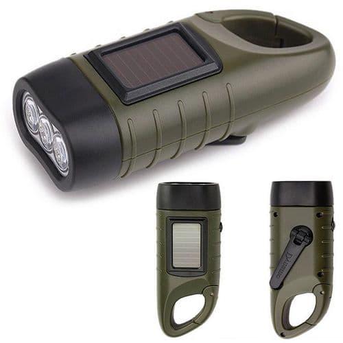 Multifonctions Solaire Et Dynamo Lampe De Poche Lanterne Lampe Torche