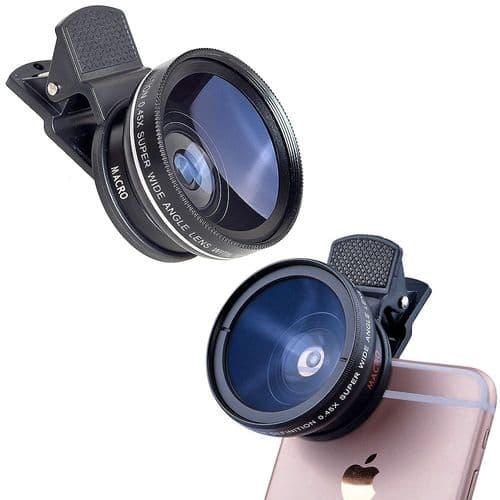 Objectif Grand Angle 37Mm 0,45X Avec Objectif Super Macro 12,5X Pour Smarphone