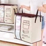 Panier Sac De Rangement 45.5X51X29Cm Pour Couverture Couette Oreiller Vêtements