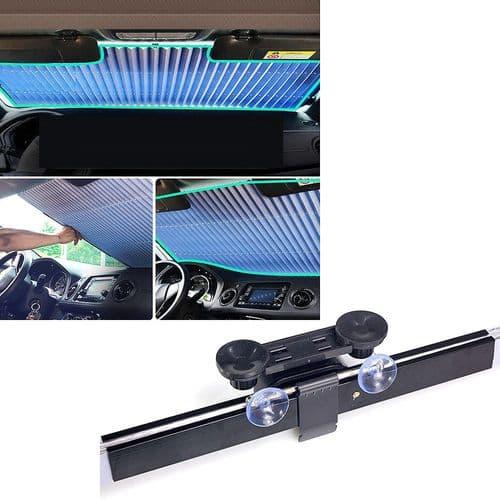 Pare-Soleil Rideau Pare-Brise Escamotable Pliable Vitre Voiture Auto / 65Cm