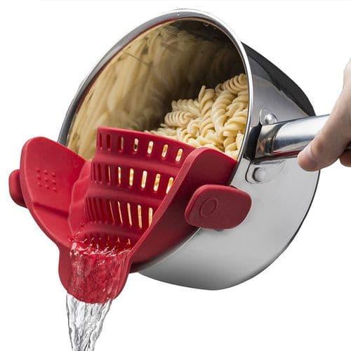 Passoire Silicone Casserole Bol Bowl ustensiles Cuisine Riz pâtes Essoreuse