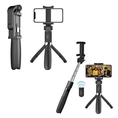 Perche Selfie Stick Avec Trépied Pour Smartphone + Télécommande Bluetooth