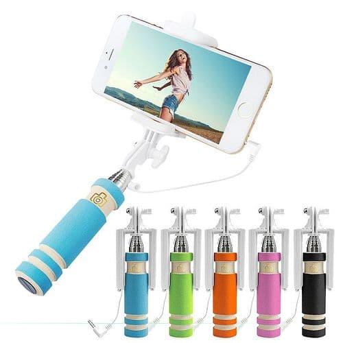 Perche Selfie Téléphone Portable Smartphone Extensible Stick Mini Auto Pole