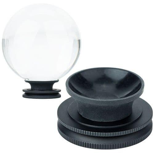 Photographie Boule De Cristal De 80Mm En Verre Optique K9 Avec Support Amovible