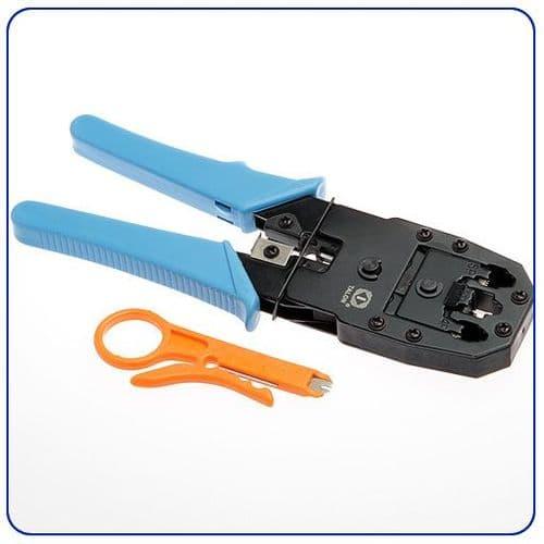 Pince Modulaire 3 en 1 pour Câble RJ11 RJ12 RJ45 Outil Ethernet Réseau