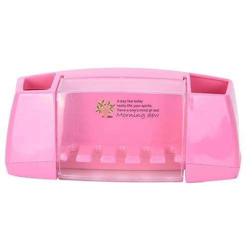 porte-brosse à dents dentifrice organisateur multifonctionnel rangement ventouse