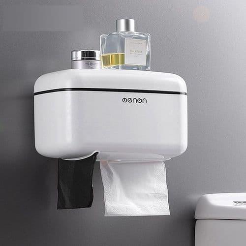 Porte-Papier Hygiénique Distributeur Rouleau De Papier Toilette Mural Rangement