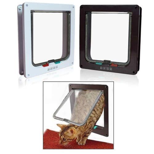 Porte Rabattable Verrouillable 4 Paramètres Pour Animal De Companie Chat Chiot
