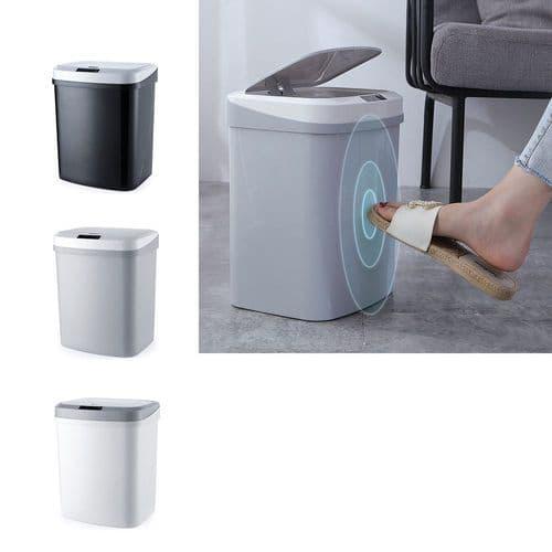Poubelle Automatique Capteur Mouvement Smart Et Kick Sensor Cuisine Bureau_15L