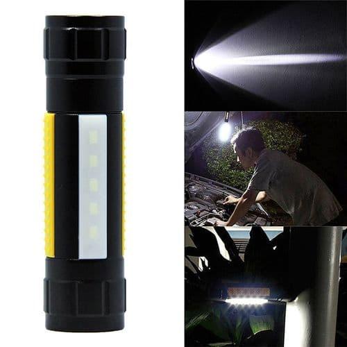 Q5 Lampe De Poche Portatif Torche Lampe Pince Clip Aimant