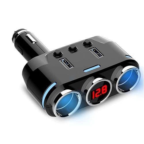 Répartiteur Adaptateur Allume-Cigare 12V-24V Chargeur Usb 3.1A Affichage Voltage