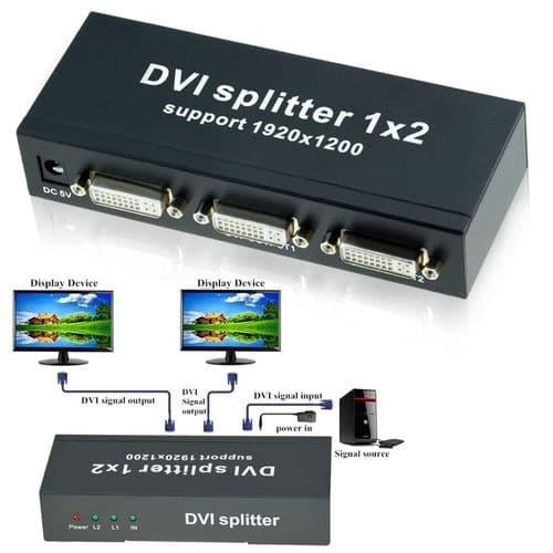 Répartiteur Dvi 2 Ports Adaptateur Double Lien Dvi-D Dvi 1X2 Dvi 1 In 2 Out