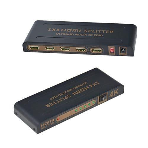 Répartiteur Hdmi 1X4 Hdmi Ultra Hd 4K 2K 1 Entrée 4 Sorties Hd 1080P Hdmi 1.4