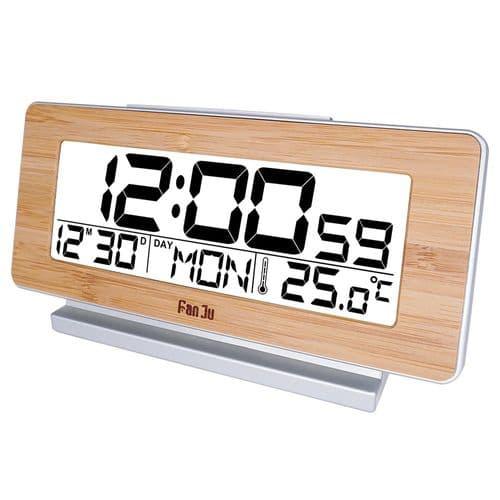 Réveil Horloge Digital Affichage Température Intérieure 12/24 Heures Snooze