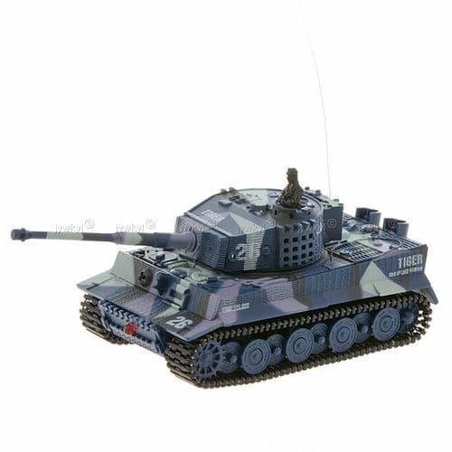 Radio Télécommandé RC Mini Tank de Guerre Modèle Miniature Jouet 1:72