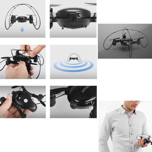 RC Mini Drone Caméra FPV Télécommande Wi-Fi Mobile Quadrocopter Jouet Volant