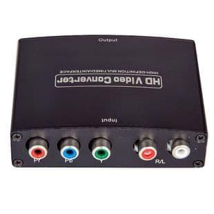 RCA Ypbpr Entrée YUV Component à sortie HDMI Adaptateur Audio Vidéo Convertisseur