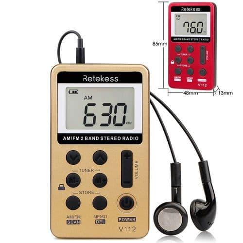 Retekess V112 Mini Récepteur Numérique Radio Fm Am Avec Écouteurs