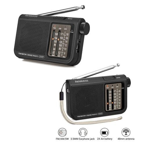 Retekess V117 Radio Portable Am Fm Récepteur Syntoniseur À Ondes Courtes