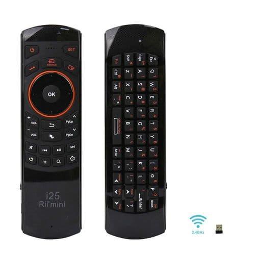 Rii Mini I25 2.4Ghz Télécommande Sans Fil Mini Clavier Touchpad_Anglais Qwerty